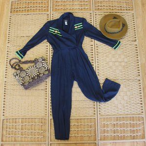 Vintage Retro Sailor Inspired Jumpsuit Sz M